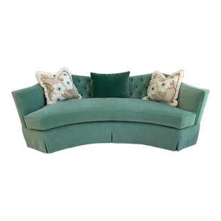 Modern Celery Kemble Sofa by Henredon For Sale