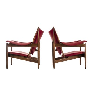 Pair of Finn Juhl Chieftain Lounge Chairs For Sale