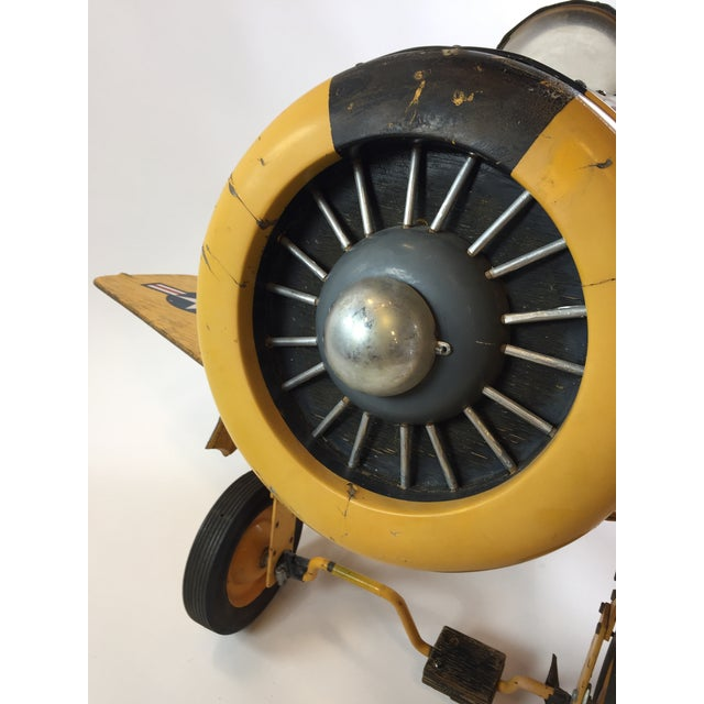 Handmade Fighter Plane Pedal Car For Sale - Image 9 of 11