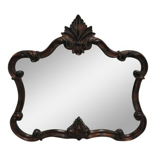 1990s Ethan Allen Accessories French Carved Hanging Wall Mirror For Sale