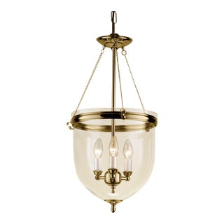 Polished Brass Lantern With Glass For Sale