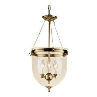 Polished Brass Lantern With Glass