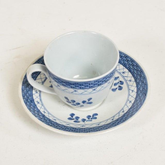 Blue Mid Century Danish Modern Coffee Tea Cup & Plate Set for (12) Twelve Person, Royal of Copenhagen Era For Sale - Image 8 of 11