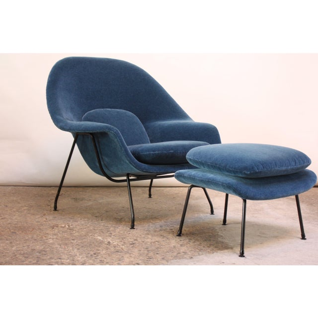 1950s Early Production Eero Saarinen for Knoll Womb Chair and Ottoman - a Pair For Sale - Image 13 of 13