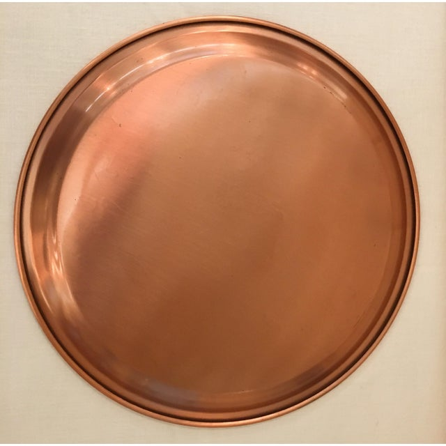 Metal Mid-Century Modern Copper Tray For Sale - Image 7 of 8