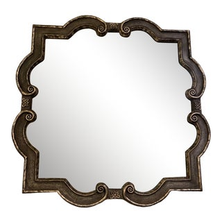 Black and Silvered Ghosted Aged Mirrors -A Pair For Sale