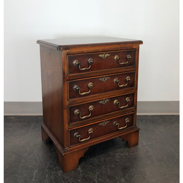 Diminuitive Burl Walnut Chippendale Style Chest / Nightstand For Sale - Image 9 of 9