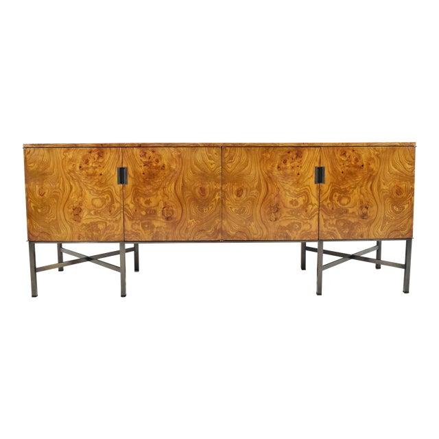 Roger Sprunger for Dunbar Burled Olivewood Sideboard or Credenza For Sale