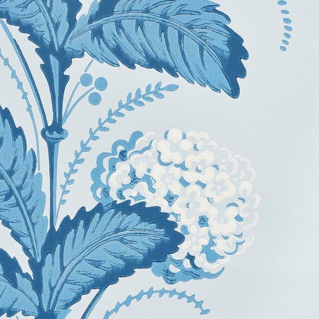 Contemporary Schumacher Hydrangea Drape Wallpaper in Delft For Sale - Image 3 of 5