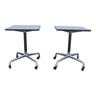 Eames for Herman Miller Rolling Tables - a Pair