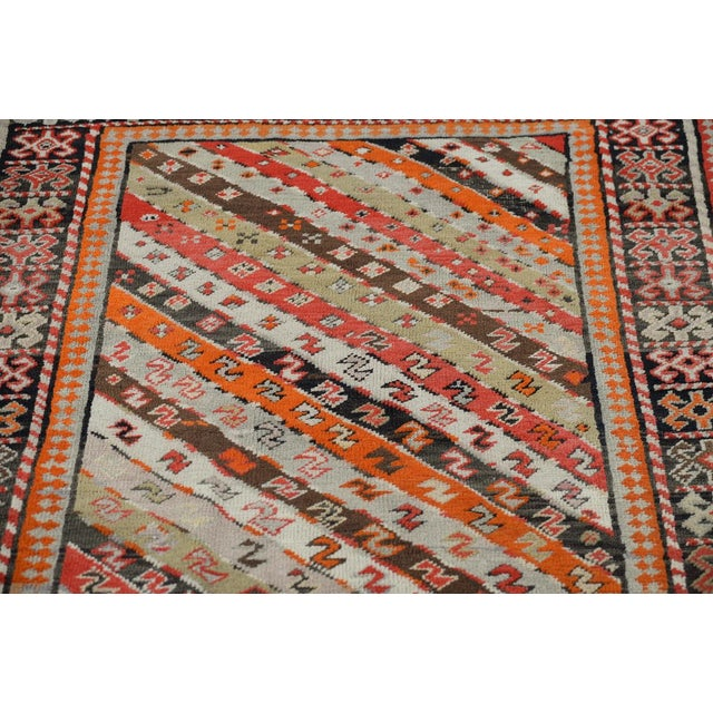 Antique Kurdistan Hand Made Tribal Rug - 4' X 7' For Sale - Image 7 of 10