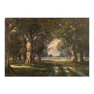 'Oak Trees Near Schwanheim' by Walter Cleff, 1910; Munich School Artist, Frankfurt Art Institute, Benezit For Sale
