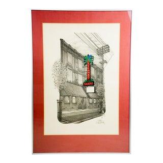 """El Mocambo Tavern, Toronto"" 1979 Illustration by David Crighton For Sale"