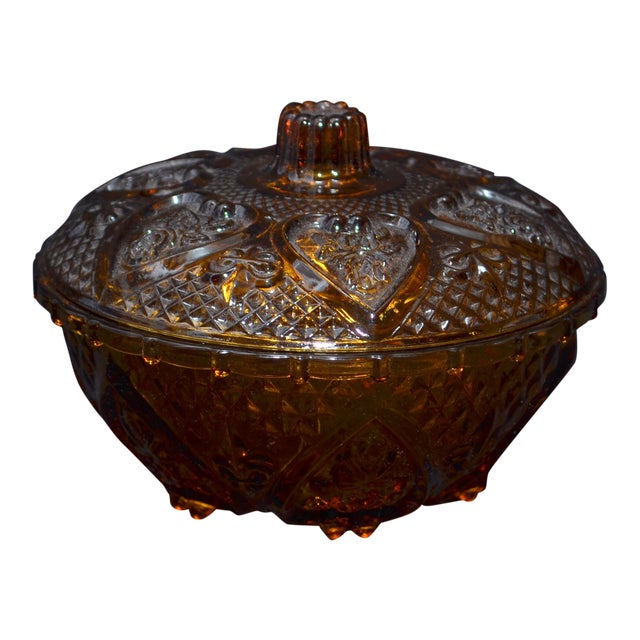 Anchor Hocking Renaissance Amber Glass Covered Dish - Image 1 of 7