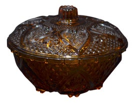 Image of Amber Serving Dishes and Pieces