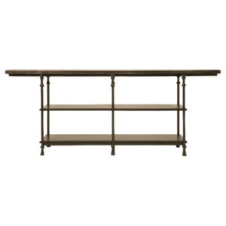Zinc and Bronze Handmade Kitchen Island For Sale
