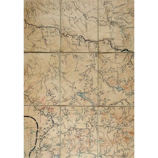 Nicholville New York 1921 Us Geological Survey Folding Map For Sale