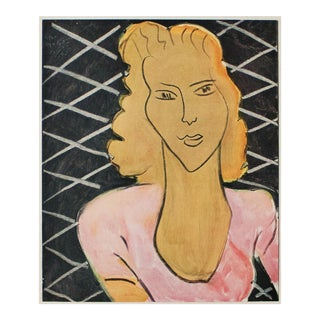 """1946 Henri Matisse """"The Lady in Rose Corsage"""", First Edition Parisian Period Lithograph For Sale"""