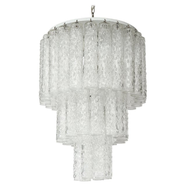 Murano Glass Tube Chandelier For Sale - Image 10 of 10