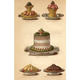 19th-C. British Cooking Print, Gamebirds For Sale