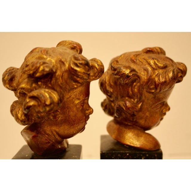 Rare Vintage Borghese Putti Cherub Gilt Bookends - A Pair - Image 6 of 10