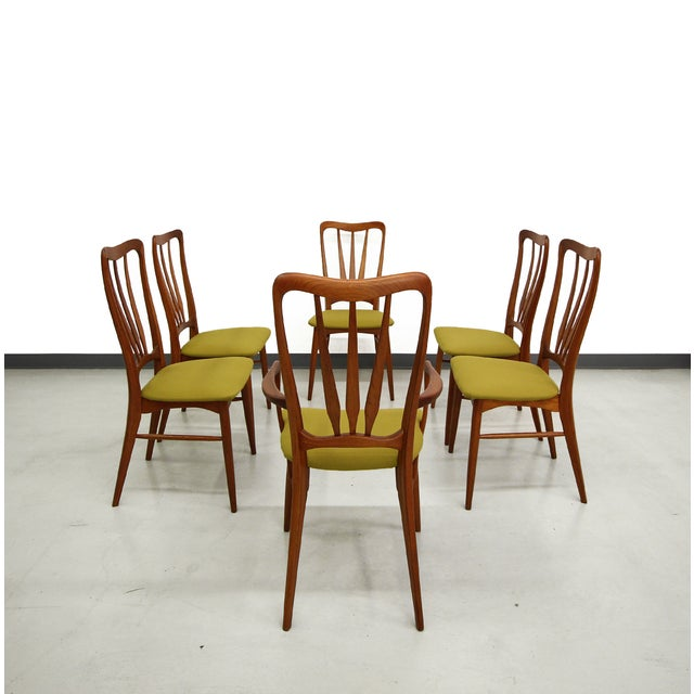 Danish Teak Koefoed Hornslet Dining Chairs -Set 6 - Image 3 of 8