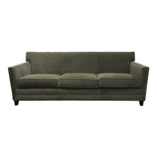 Thomasville Modern Gray Mohair Style Sofa For Sale
