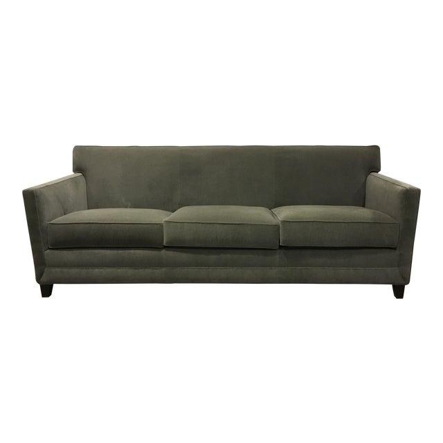Thomasville Modern Gray Mohair Style Sofa