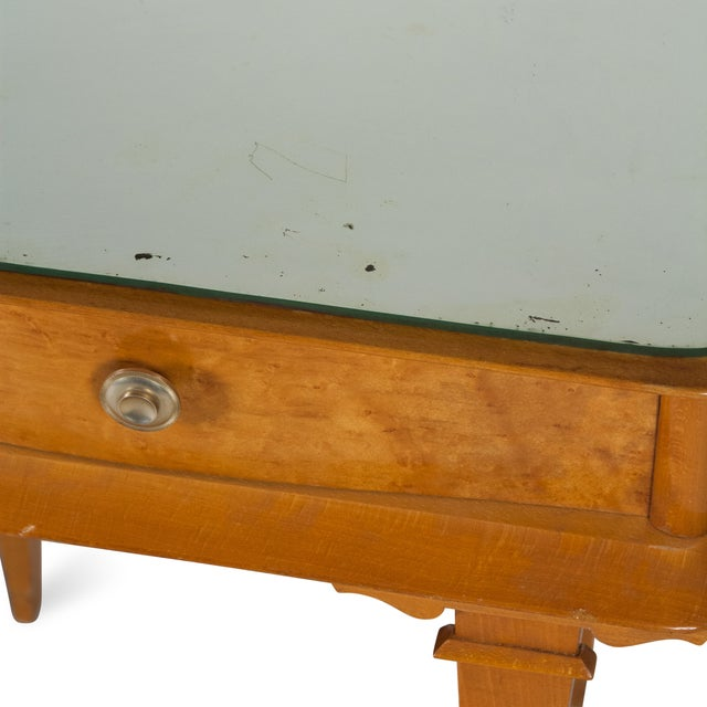 Vintage 1940s French Sycamore End Tables - A Pair - Image 9 of 10