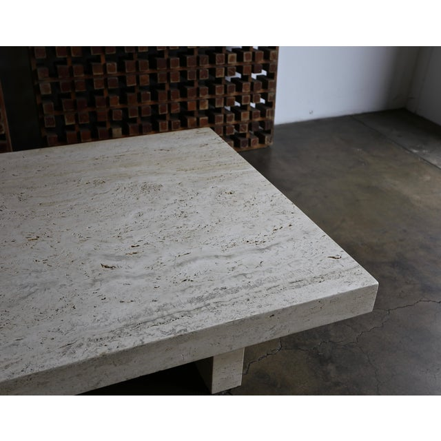 Travertine Coffee Table, Circa 1980 For Sale - Image 10 of 13
