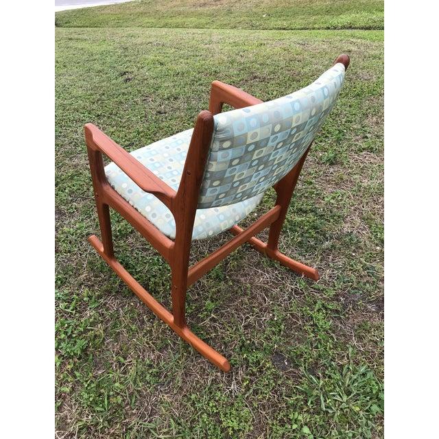 Mid Century Danish Teak Rocking Chair For Sale - Image 11 of 12