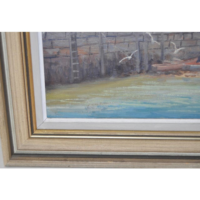 Canvas Rockport Massachusetts Oil Painting by Michael Stoffa For Sale - Image 7 of 9