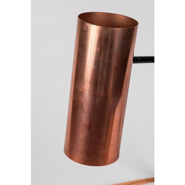 1950s Stilux Copper and Metal Table Lamp For Sale - Image 12 of 13