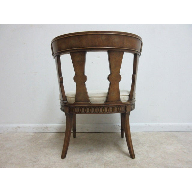 1970s Vintage Italian Regency Cherrywood Fireside Side Lounge Chair For Sale - Image 5 of 11