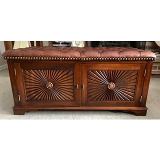 Tufted Leather and Mahogany Chest Preview