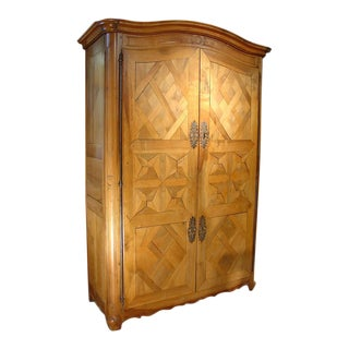 Early 1800's Antique Parquet Armoire- Chateau Bienassis, France For Sale