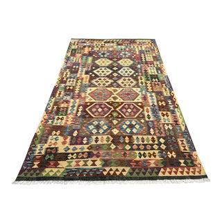 Nomad's Afghan Chobi Kilim Rug - 6′3″ × 11′ For Sale