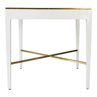 Modern History Georgian White End Table