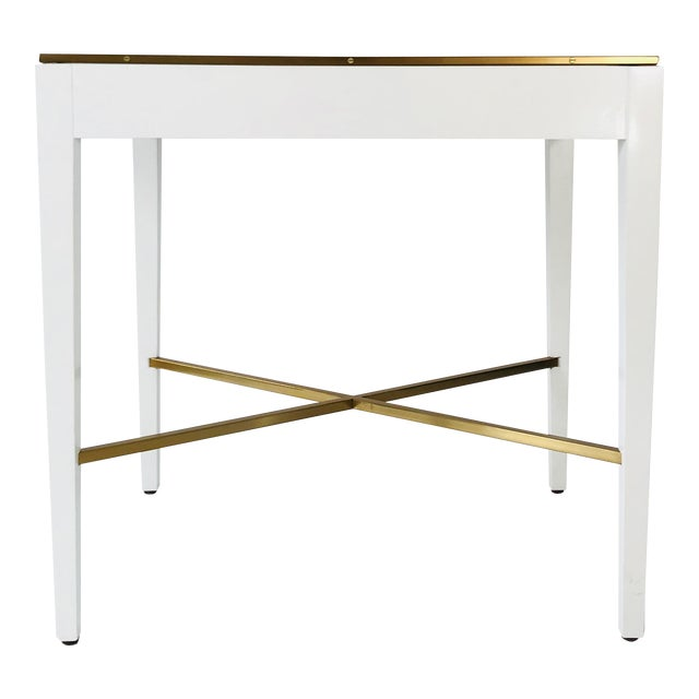 Modern History Georgian White End Table For Sale