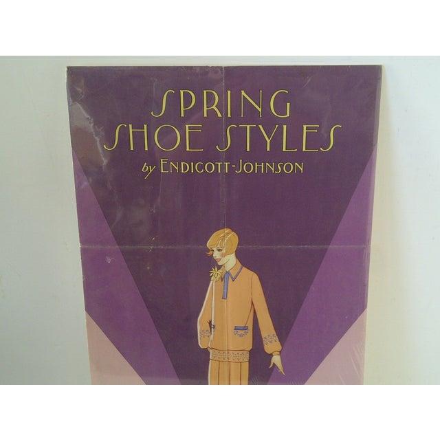 Art Deco Vintage Endicott-Johnson Advertising Poster For Sale - Image 3 of 6