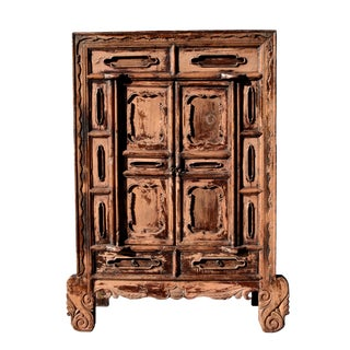 19th Century Antique Rustic Northern Chinese Cabinet For Sale