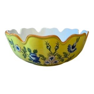 Tiffany & Co. Scalloped Edge Este Ceramiche Bowl For Sale