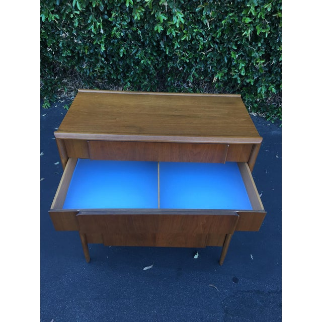 Mid Century Modern High Boy Dresser Chest of Drawers Parallel Collection by Barney Flagg for Drexel For Sale - Image 9 of 12