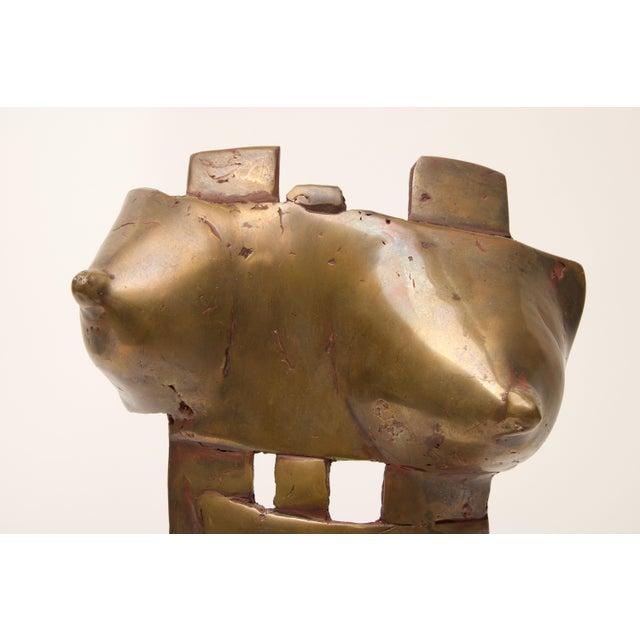 Mid-Century Modern Brutalist Bronze Sculpture of Female Torso For Sale - Image 4 of 10