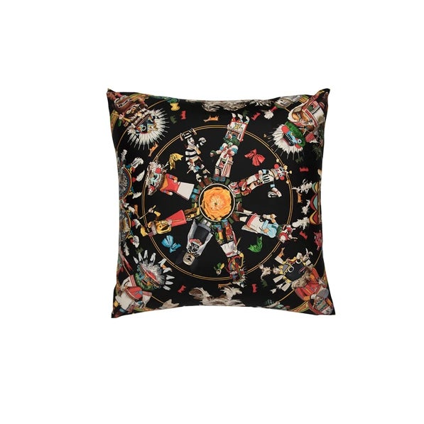 """Contemporary """"Kachina"""" Hermès Silk Scarf Pillow For Sale - Image 3 of 3"""