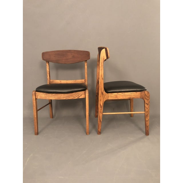 1960s Danish Modern Walnut Dining Chairs - a Pair For Sale - Image 9 of 10