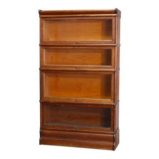Arts & Crafts Mission Oak 4-Stack Barrister Bookcase For Sale