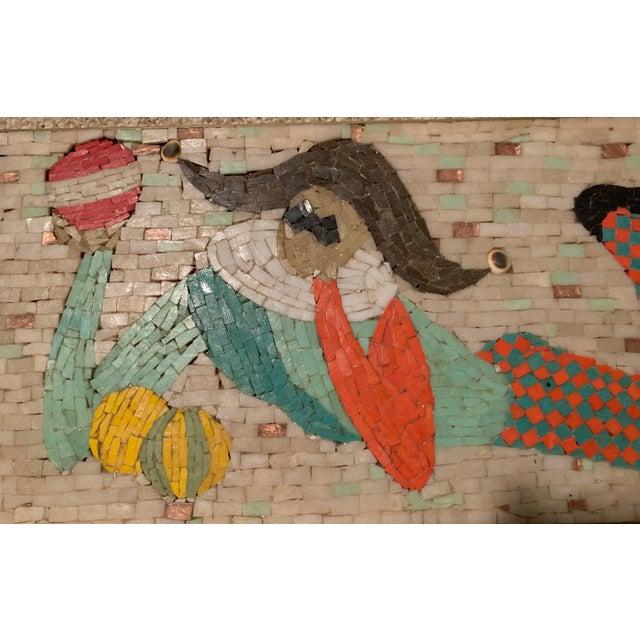 Vintage Harlequin Jester Tile Mosaic Wall Hanging For Sale - Image 10 of 12