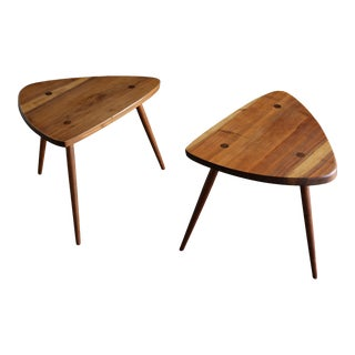 """George Nakashima Handcrafted """"Wohl"""" Occasional Tables, 1954 - a Pair For Sale"""