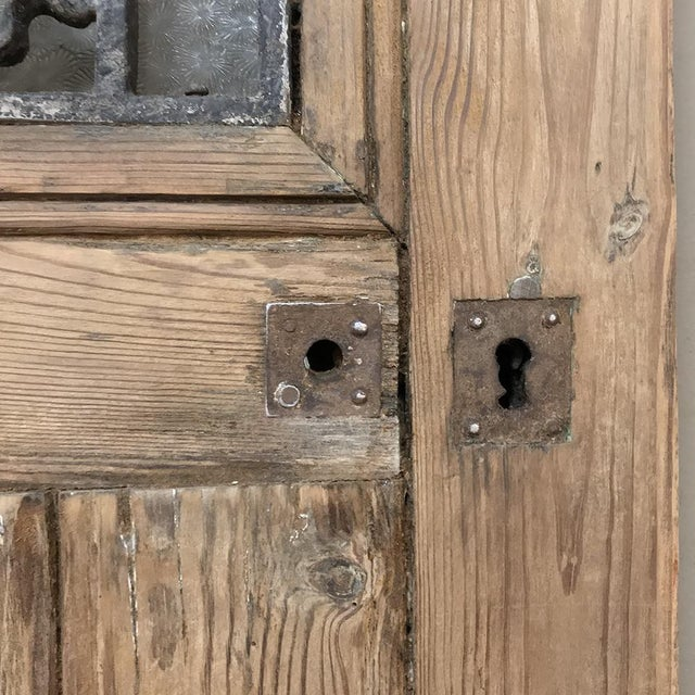 Art Nouveau Exterior Door, 19th Century French With Wrought Iron For Sale In Dallas - Image 6 of 13